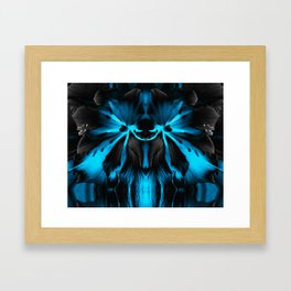 Honey Badger Flower Framed Art Print
