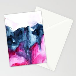 Abstract Indigo Mountains 2 Stationery Cards