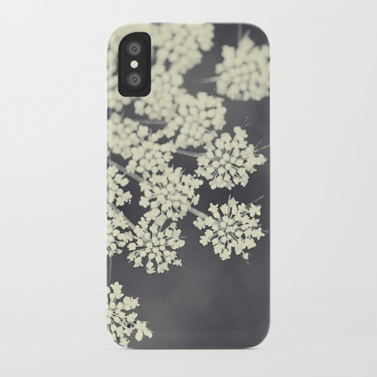 Black and White Queen Annes Lace iPhone Case