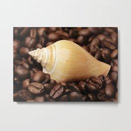 Coffee bean snail Metal Print