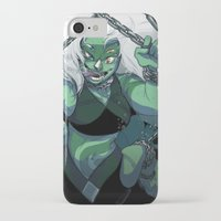 malachite iPhone & iPod Cases featuring It Came from Beneath the Sea by KingsDarga
