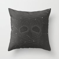 dead space Throw Pillows featuring Dead Space by MRCRMB
