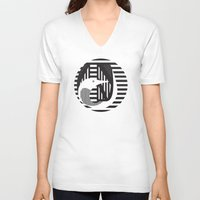 diver V-neck T-shirts featuring diver by Gray