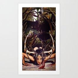Love's an animal Art Print