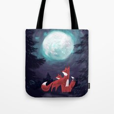 Clever Fox's Tales about the Universe Tote Bag