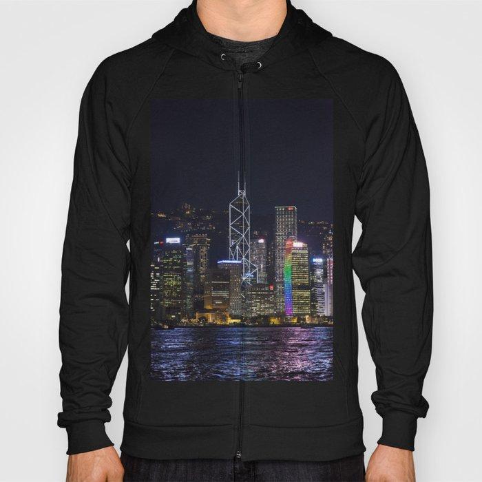 Hong Kong Night Skyline Hoody