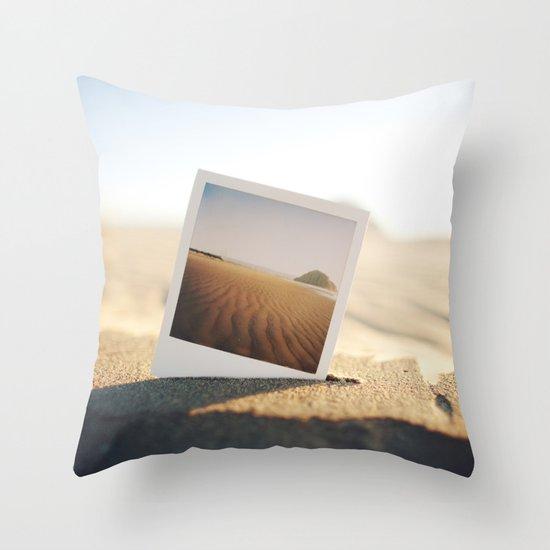 Morro Bay Polaroid Throw Pillow