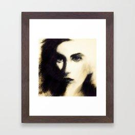 Female Face Study Framed Art Print