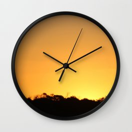 Golden Hour on the Nullarbor Wall Clock