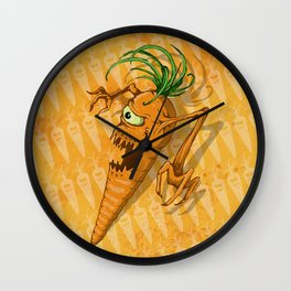 Eat Your Carrots... Before They EAT You! Wall Clock