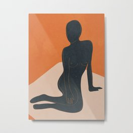 Abstract Nude III Metal Print