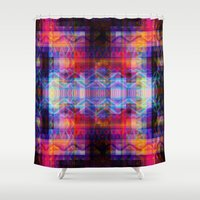 aztec Shower Curtains featuring Aztec by deff