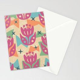 Mid Century Modern Butterfly Garden 202 Stationery Cards