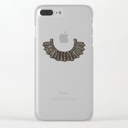 Ruth Bader Ginsburg's Dissent Collar RBG Clear iPhone Case