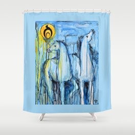 Empowerment: Spirit Horses Rise Shower Curtain