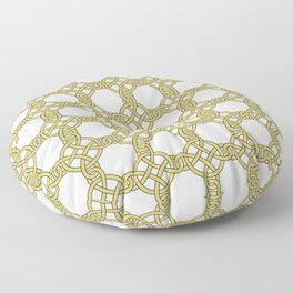 Gold & White Knotted Design Floor Pillow