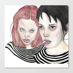Girl, Interrupted Canvas Print