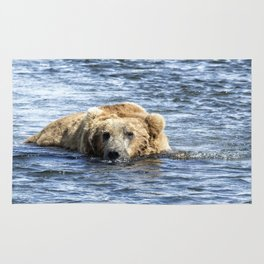 Brown Bear Cooling Off Rug