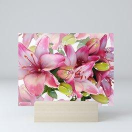 Pink Lilies Mini Art Print