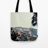 hollywood Tote Bags featuring Hollywood  by sam may create.