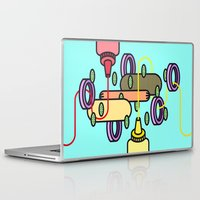 hot dog Laptop & iPad Skins featuring Hot dog by Jan Luzar