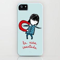 la niña imantada iPhone (5, 5s) Slim Case