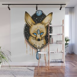 Watercolor Fennec Fox Wall Mural