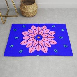 Flower power 1 Klein Blue Rug