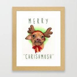 Chrismas Card - Merry Chrishmush  Framed Art Print