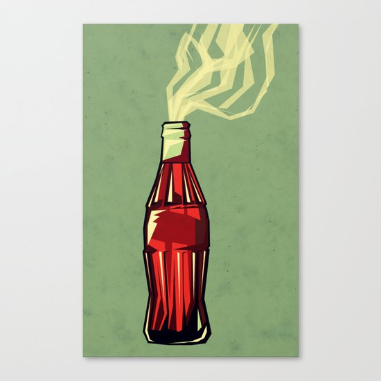 Genie out the bottle Canvas Print