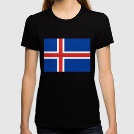 National flag of Iceland T-shirt