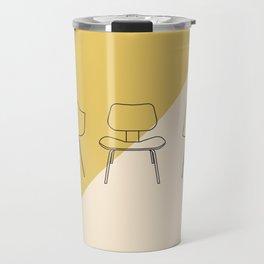 Eames Chairs // Mid Century Modern Minimalist Illustration Travel Mug