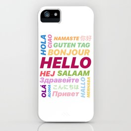 "Multilingual ""Hello"" Digital Art iPhone Case"