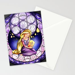 Rapunzel Stain Glass Stationery Cards