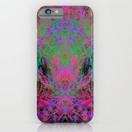 Witch Doctor Fire (psychedelic, ultraviolet) iPhone Case