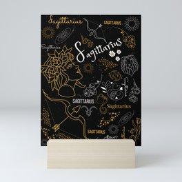 Sagittarius Sign Zodiac Horoscope Design Mini Art Print