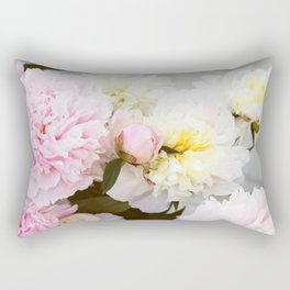 Peony bouquet photo. Pink and white flowers Rectangular Pillow