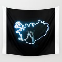 iceland Wall Tapestries featuring Iceland by Rik&Rut