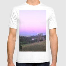 Strange Moon Rising Mens Fitted Tee White MEDIUM