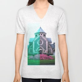 Cracked church... Unisex V-Neck