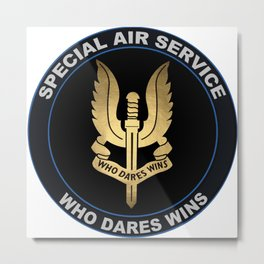 Special Air Service Emblem Metal Print