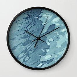 Aqua Shoreline Wall Clock