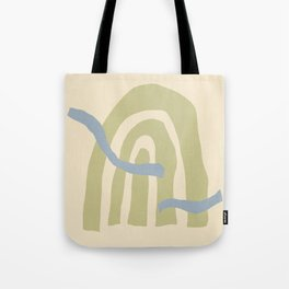 Minimal Collage Arch Wall Art Tote Bag
