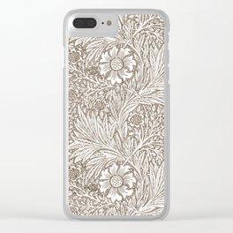"""William Morris """"Marigold"""" 7. Clear iPhone Case"""