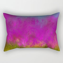 Wildflowers Mod Impressionism Rectangular Pillow