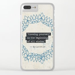 Aristotle quote Clear iPhone Case