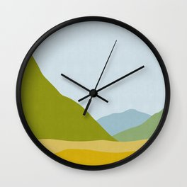 Watercolor landscape II Wall Clock