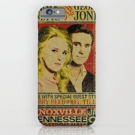 Tammy Wynette & George Jones Concert metal tin sign iPhone Case