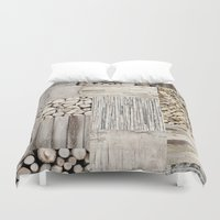 wood Duvet Covers featuring Wood by LebensART