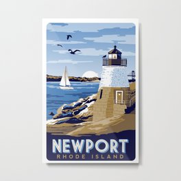 Newport Rhode island vintage travel poster Metal Print